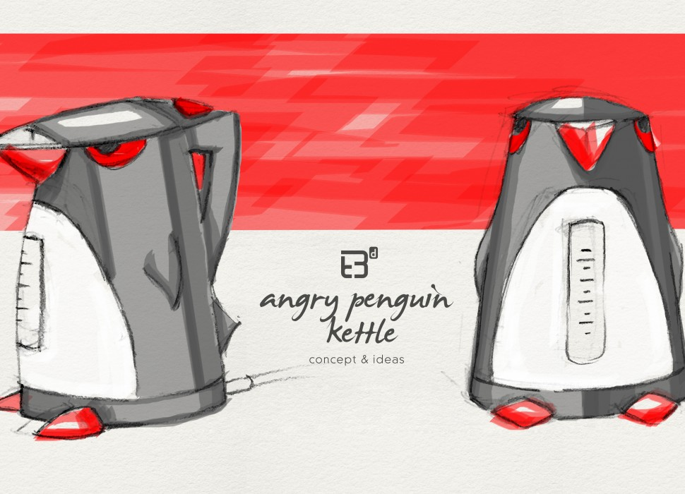 Angry Penguin Kettle
